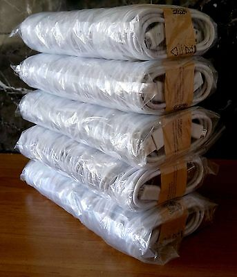100X Wholesale Lot of White Micro USB Cable Charger Cord for Samsung Galaxy S2S6
