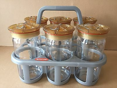 Beckman Centrifuge Bottle Polycarbonate 1000ml - Lot of 6 w/Tote