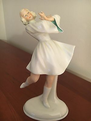 GERMANY SCHAUBACH KUNST ART DECO PORCELAIN DANCING LADY 1930's FIGURINE