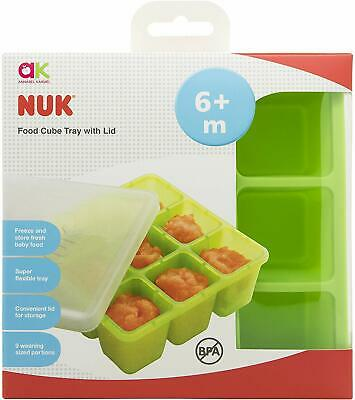 Annabel Karmel by NUK Food Cube Tray Perfect for Baby Weaning Food Freeze-Green
