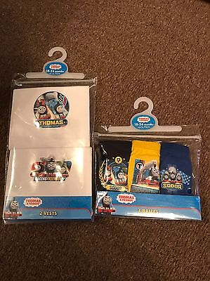 Baby Boy Thomas The Tank Engine Vests & Pants 18/24 Mth EASTER SALE