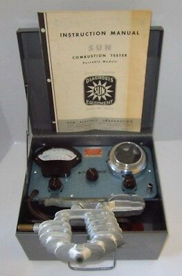 Vintage SUN Combustion Tester Tool Portable in Case Complete