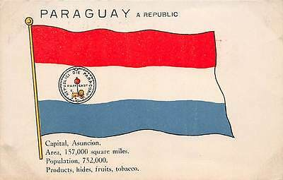 PARAGUAY ~ COUNTRY'S FLAG & FACTS ABOUT THIS NATION ~ c. 1904-14