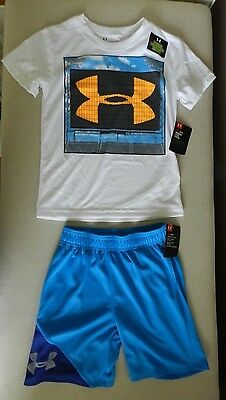 Under Armour Boy's  Heat Gear T shirt  & Shorts  sz 5 New  with tags