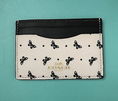 New Coach Butterfly PVC Card Case Credit Card Holder Mini Wallet 69787