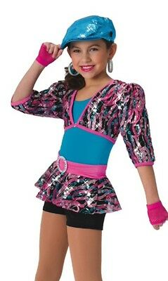 New Costume Gallery #15359 dance jazz hip hop pageant costume large child 12-14