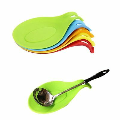 Silicone Spoon Fork Mat Heat Resistant Kitchen Tool Utensil Spatula Holder