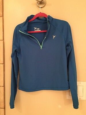 Girls Old Navy Active 1/4 Zip Pullover Athletic Top Size S (6-7) Blue