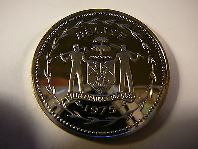 BELIZE 1975 $10 Silver Crown Proof
