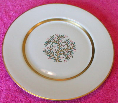 """Franciscan (Fremont - Gold Trim) 10 5/8"""" DINNER PLATE(s) Exc (9 avail)"""