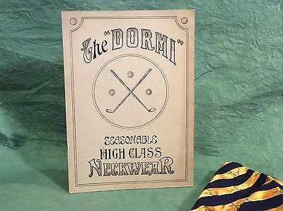 Unusual Vintage Golf Advertising Sign Neckwear Ascot Tie Counter Top Display