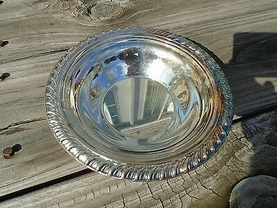 Vintage Serving Bowl Silverplate International silver  Bon Bon Bowl handcrafted