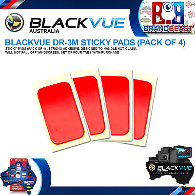 Blackvue Sticky Pads (Pack Of 4) For Crash Cams Dr450 Dr650s