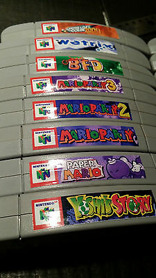 N64 Cartridge Top End Labels - ALL US GAMES +  14 Variants Labels Spine Nintendo