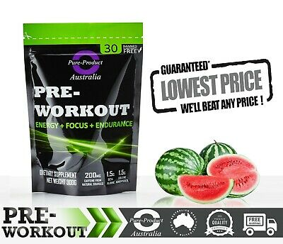 PRE WORKOUT 30 SERVES SWEET Watermelon  PREWORKOUT