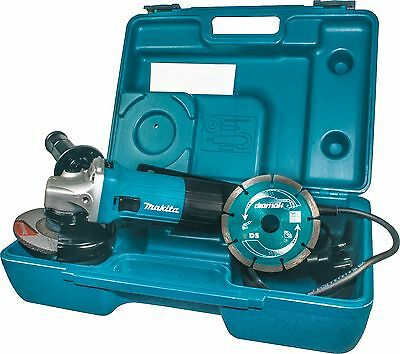 Makita GA4530KD 115mm Angle Grinder, Carry Case & Diamond Blade - 240v