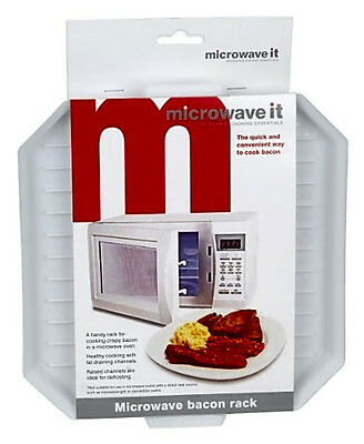 Microwave It Microwave Bacon Crisper Dishwasher Safe Easy Clean High Quality New