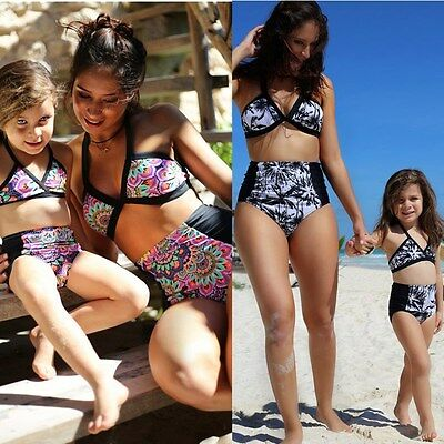 2017 Summer New Family Matching Swimsuit Mother Daughter 2Pcs Swimwear sets
