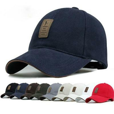 New Cotton Baseball Cap Sports Golf Snapback Outdoor Simple Solid Hats For Men B