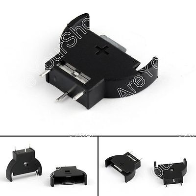 Coin Cell CR2032 Vertical Battery Holder Upright Mount Socket 3 Pin