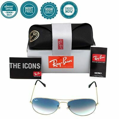 8e053c4cb2 Authentic Ray Ban Cockpit RB3362 Silver Frame 003 32 Light Grey Gradient  56mm