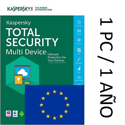 Kaspersky Total Security Multi Device 2018 1 dispositivo 1 Año EU (no CD)