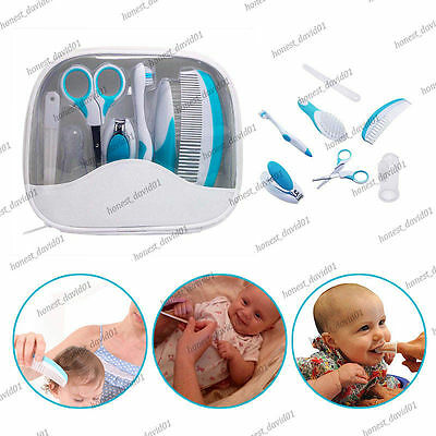 Baby Nail Clipper Toothbrush Hair Brush Comb Grooming Healthcare Kit Scissors