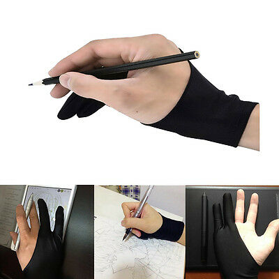 2pcs Two Finger Artist Sketch Glove Graphics Drawing Pen Tablet Tracing Pad AU