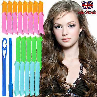 DIY Hair Curlers Tools 30 / 50CM Mixed Magic Styling Rollers Spiral Curlformers