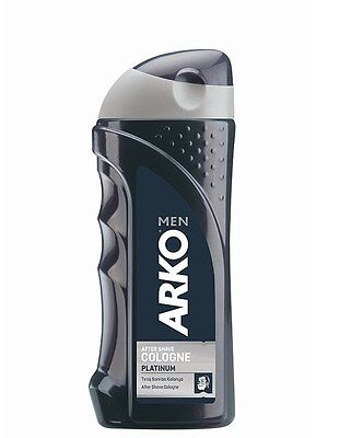 (EUR 3,99/100 ml) Arko Men After Shave Cologne Duftwasser Platinum 250 ml