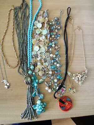 Job Lot of Ten Necklaces Including Avon and Marks and Spencer.
