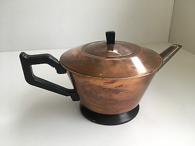 Vintage Art Deco Copper Tea-Pot