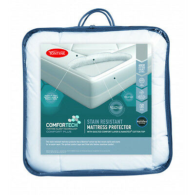 Tontine Comfortech Stain Resistant Waterproof Mattress Protector-All Sizes