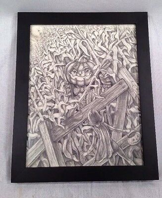 Signed Original Science Fiction And Fantasy Art By The Artist - Framed