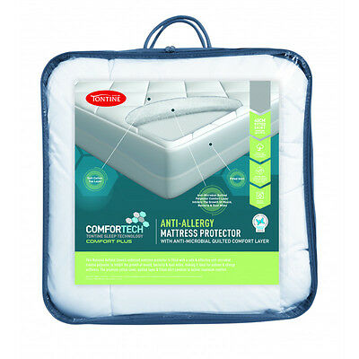 Tontine Comfortech Anti-Allergy Quilted Layer Mattress Protector- ALL Sizes