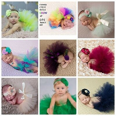 Baby Girl Crochet Knitted Tutu Skirt Newborn Costume Photography Prop Outfits SS