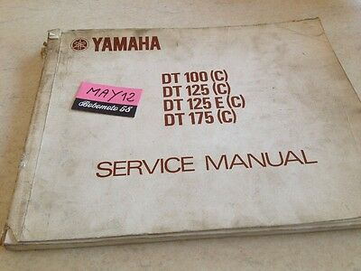 Yamaha DT 100 125 125E 175 ( C ) manuel revue technique atelier workshop manual