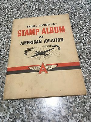 1940 Tydol Flying A Stamp Album Of American Aviation Complete 48/48 Stamps