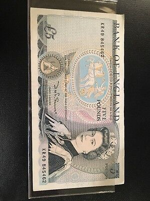 1980 5 Pounds The Bank Of England Note