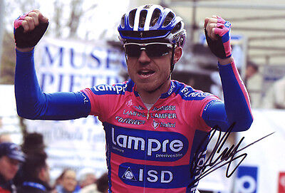 Damiano Cunego - Autographed - Signed 8X12 inches Tour De France Photo