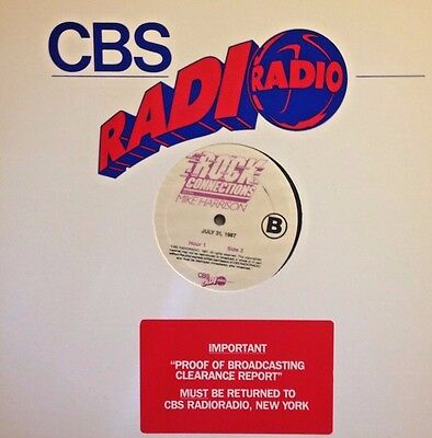 RADIO SHOW:ROCK CONNECTIONS w/MIKE HARRISON 7/31/87 ALBUM OLDIES BUT GOODIES