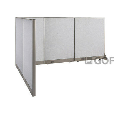 GOF L-Shaped Freestanding Partition 72D x 102W x 48H / Office, Room Divider