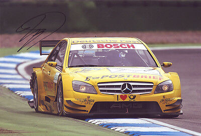 David Coulthard Signed 8X12 inches DTM Photo