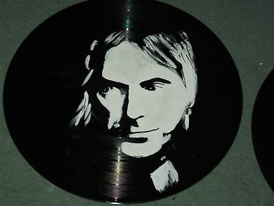 Paul Weller, The Jam   Hand Painted  12 Ins Vinyl Discs  Ready To Hang  Rare