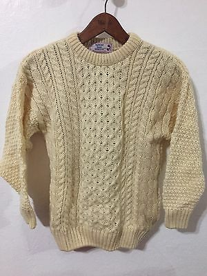 NWT HIGHLAND HOME INDUSTRIES Aran Knit Sweater Girl Boy Youth 10/11 Scotland