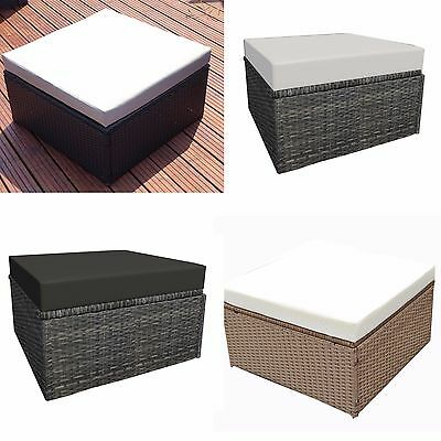 Gentil Rattan Weave Ottoman Footstool Garden Furniture Indoor Outdoor Footstools  Seat