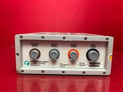 Reliable Power Meter 1000, with 2 1000 AMP current clamps, 2 current probe, 2 15