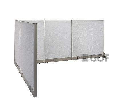 GOF L-Shaped Freestanding Partition 78D x 120W x 48H / Office, Room Divider