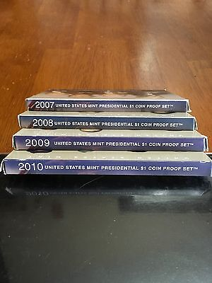 US Mint Presidential $1 Coin Proof Set Lot 2007-2010