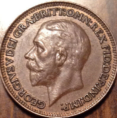 1929 Gb Uk Farthing In Superb Condition